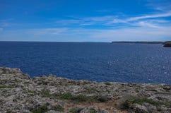 Beautiful Mediterranean seacoast on a sunny day in Spain, Europe. Beautiful Mediterranean seacoast on a warm, sunny day in Spain, Europe royalty free stock image