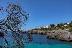 Beautiful Mediterranean seacoast on a sunny day in Spain, Europe. Beautiful Mediterranean seacoast on a warm, sunny day in Spain, Europe royalty free stock photos