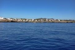 Beautiful Mediterranean seacoast on a sunny day in Spain, Europe. Beautiful Mediterranean seacoast on a warm, sunny day in Spain, Europe stock photography