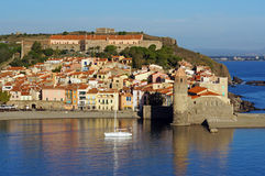 Beautiful Mediterranean village of Collioure Stock Photography