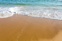 Beautiful mediterranean water lapping on the shore Royalty Free Stock Photos