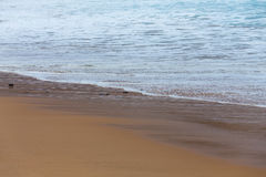 Beautiful mediterranean water lapping on the shore Stock Photography