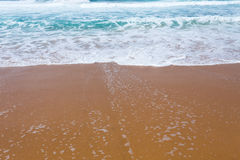 Beautiful mediterranean water lapping on the shore Royalty Free Stock Photography