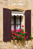 Beautiful Mediterranean window Stock Images