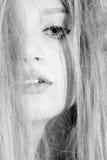 Beautiful melancholic blonde royalty free stock images