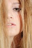 Beautiful melancholic blonde Stock Photo