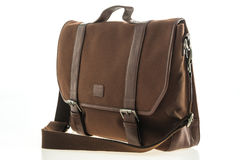 Beautiful men fashion with leather messenger bag Stock Photography
