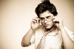 Beautiful men with glasses. Royalty Free Stock Photos