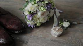 Beautiful men wedding accessories. Wedding day.