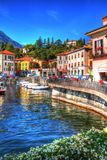 The beautiful Menaggio waterfront, Lake Como, Lombardy, Italy. royalty free stock photos