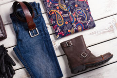 Beautiful mens clothing. Brand clothes Stock Photos