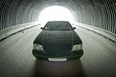 Beautiful Mercedes on the road in a tunnel Royalty Free Stock Photos