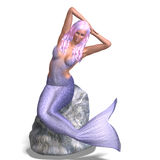 Beautiful mermaid Royalty Free Stock Image