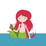 Beautiful  Mermaid cartoon Royalty Free Stock Photo