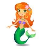 Beautiful  Mermaid cartoon Stock Photography