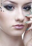 Beautiful mermaid girl Stock Photos