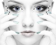 Beautiful mermaid girl Stock Images