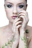 Beautiful mermaid girl Stock Image