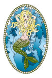 Beautiful Mermaid tattoo Stock Photo