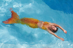 Beautiful mermaid in water Royalty Free Stock Image