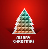 Beautiful merry christmas tree colorful background Royalty Free Stock Photography