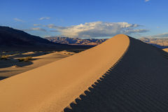 The beautiful Mesquite Flat Dunes. At Stovepipe Wells, Death Valley National Park Royalty Free Stock Photography