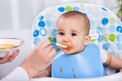 Beautiful messy baby child Royalty Free Stock Photos