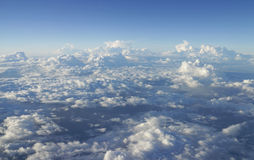 Beautiful Messy Cloud viewed from Airplane Stock Photo