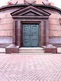 Beautiful metal door. Entrance to the church. St. Petersburg, Russia Stock Photos
