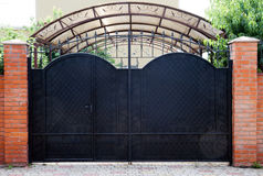 Beautiful metal gates at the cottage Stock Photo