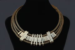 Beautiful metal necklace Royalty Free Stock Image