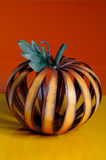 Beautiful metal pumpkin. A beautiful metal pumpkin  in seasonal colors Stock Photography