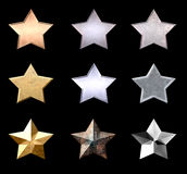 Beautiful Metal Stars Royalty Free Stock Photo
