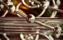Stylish shiny metallic object background photograph. The beautiful metallic pipes stylish object unique background photograph stock photography