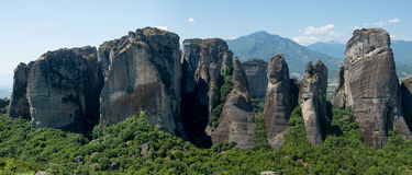 Beautiful Meteora landscape Stock Photography