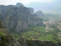Greece meteora monasteries Stock Photos