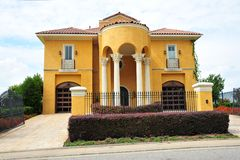 Beautiful Mexican ranch style Villa Mansion Stock Image