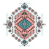 Beautiful Mexican Tribal vector isolated ornament Royalty Free Stock Image