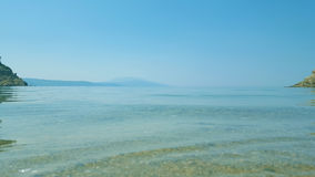 Beautiful Micros Aselinos beach on Skiathos island in Greece, summer day Royalty Free Stock Images