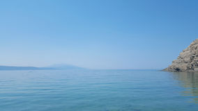 Beautiful Micros Aselinos beach on Skiathos island in Greece, summer day Royalty Free Stock Photography