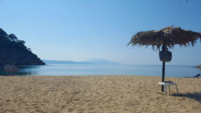 Beautiful Micros Aselinos beach on Skiathos island in Greece, summer day Stock Images