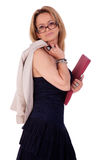 Beautiful middle-age woman, with documents, Royalty Free Stock Photos