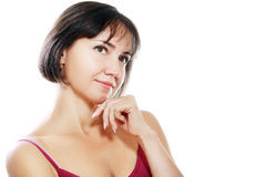 Beautiful middle aged brunette woman Royalty Free Stock Photography