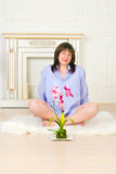 Beautiful middle aged pregnant female Royalty Free Stock Photo