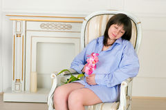 Beautiful middle aged pregnant female Royalty Free Stock Images
