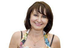 Beautiful middle-aged woman Royalty Free Stock Photos