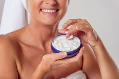 Beautiful middle aged woman Stock Images