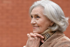 Beautiful middle-aged woman outdoor Royalty Free Stock Photo