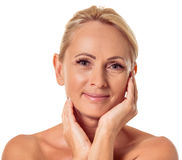 Beautiful middle aged woman Royalty Free Stock Images