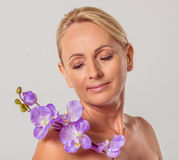 Beautiful middle aged woman Stock Photo